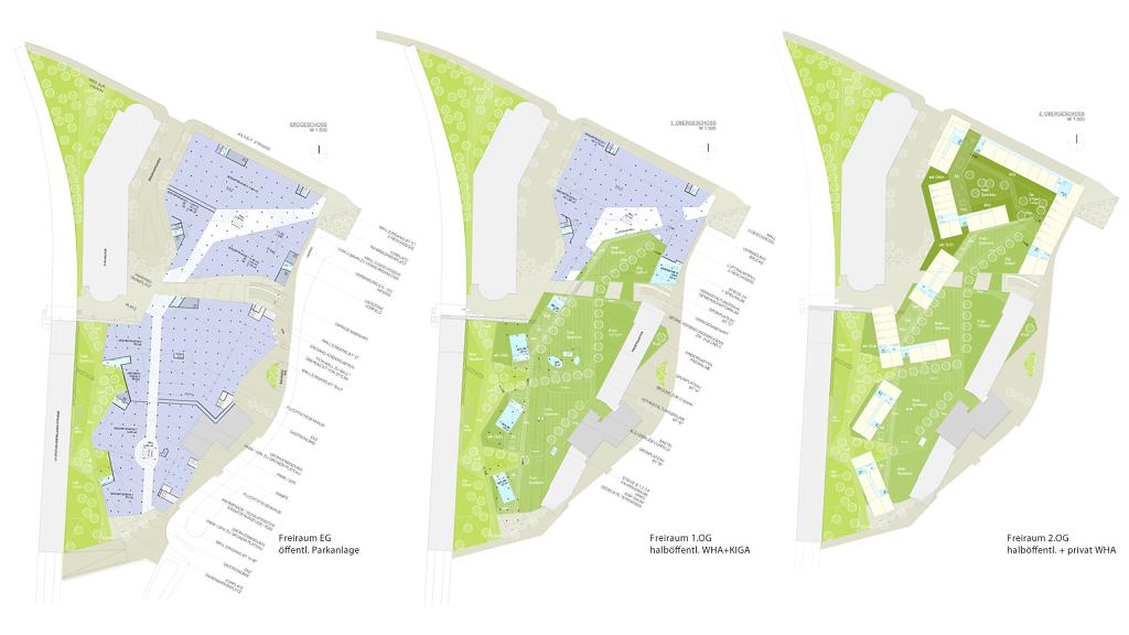 Landschaftsarchitektur auf 3 Geschossen