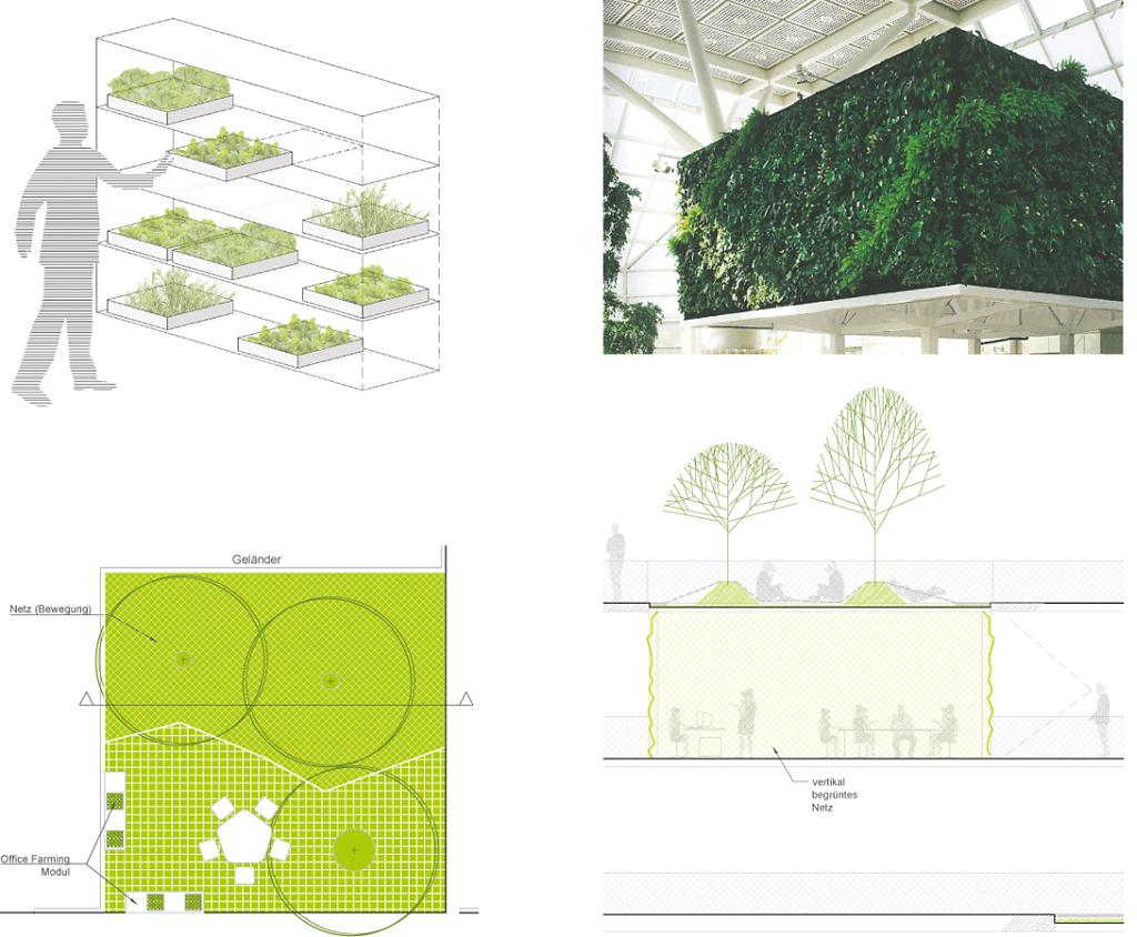 woodland office app = office farming + vertical greening