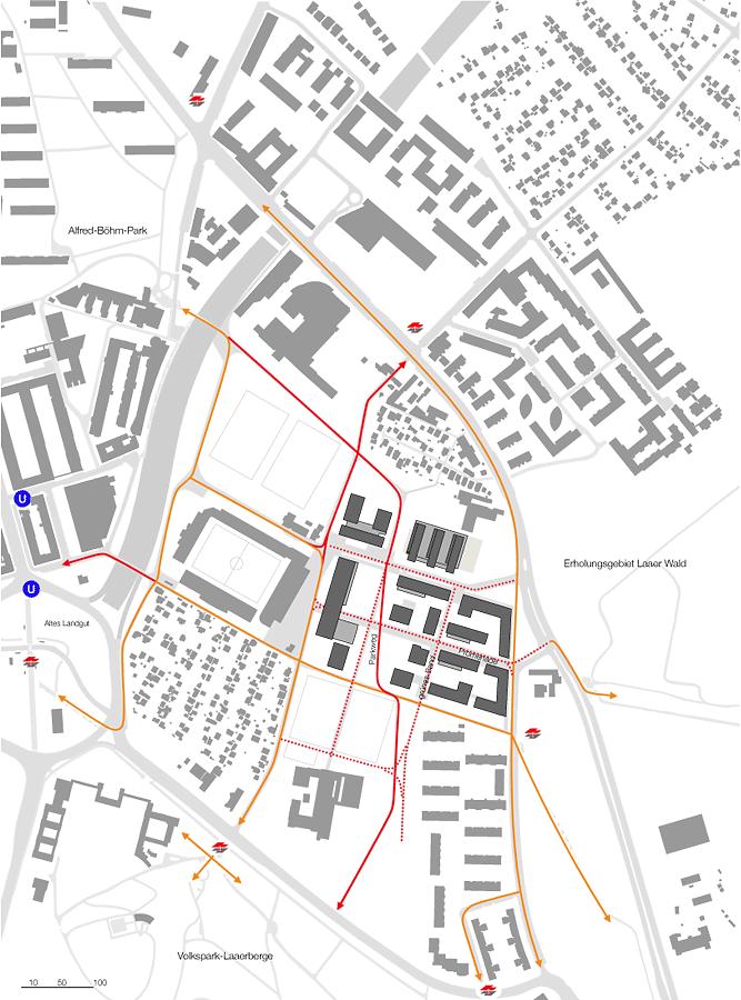 Verkehr ÖV + Fußwege