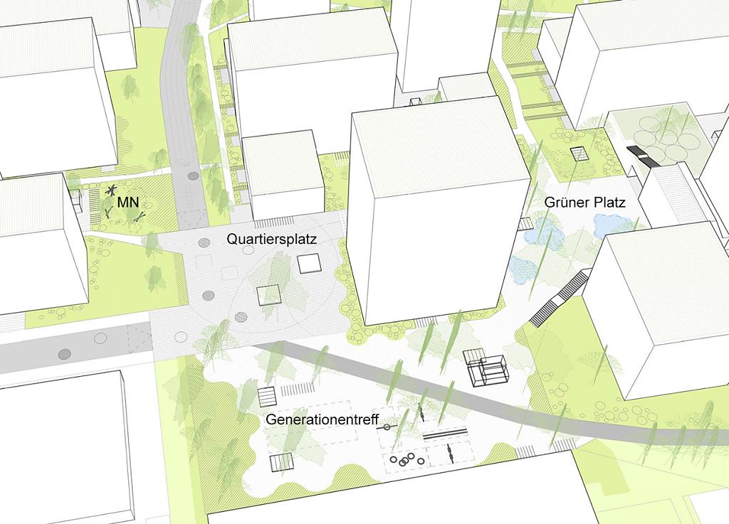 MN - Quartiersplatz - Generationentreff - Grüner Platz